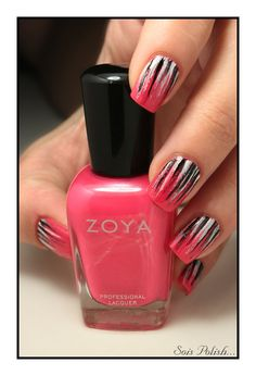 waterfall nail art - Zoya Yana