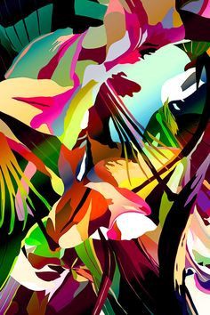 Abstract Flower Illustration by Michele Valdez
