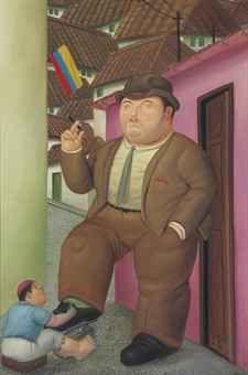 Fernando Botero - Shoeshine - 1989