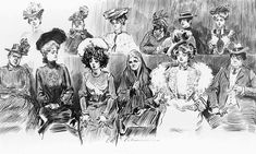 Charles Dana Gibson, the greatest pen and ink illustrator who ever lived.