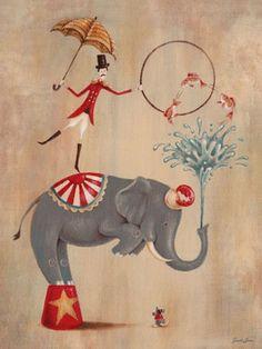 Vintage Circus Elephant