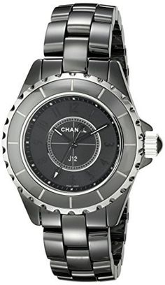 c55364273b2 Chanel Women s H3828 Analog Display Quartz Black Watch