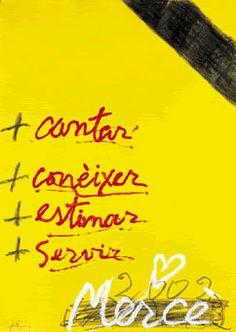 Cartell de la Mercè 2002. Disseny d'Antoni Tàpies.