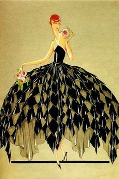 Jeanne-Marie Lanvin 1926 fashion illustration