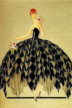 Jeanne-Marie Lanvin 1926 fashion illustration