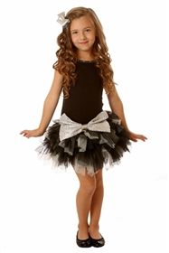 Ooh La La Couture - Crazy Sparkle Bow Dress in Black