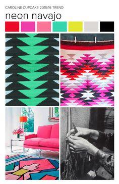 #carolinececiltextiles trend inspiration. Tribal | Navajo | Zuni | Bohemian | Textiles | Fashion | Pattern | Textile Trend 2015 | Textile Trend 2016 | SS15 | SS16