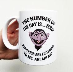 """Handmade """"Number of the Day"""" Coffee Mug - Handmade Coffee Cup - Count Mug - Funny Coffee Cup"""