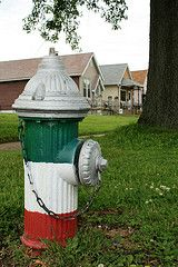 """the hill: to many st. louisans, """"the hill"""" is an italian neighborhood known for its nationally acclaimed restaurants, specialty groceries and bakeries, tiny """"shotgun"""" houses and fire hydrants proudly painted green, white and red, the colors of the Italian flag. yet this image just touches the surface, for this 50 square block area in south st. louis is not merely one of the city's few ethnic neighborhoods, but among its most stable, tightly woven communities. from: zias.com #thehill #stlouis…"""