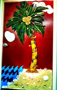 Christmas Decorated Door contest at work.