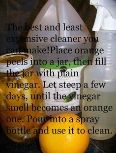 How to Clean Your Refrigerator the Easy Way with Orange Vinegar Cleaner | Homemaker's Challenge