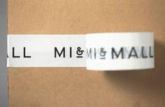 Custom tape - New Logo and Brand Identity for Mi&Mall by Atipo BP&O – Custom tape Mall Design, Box Design, Design Ideas, Collateral Design, Branding Design, Box Branding, Stationery Design, Packaging Inspiration, Packaging Ideas