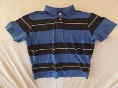 Arizona Boys Blue Striped Top Short Sleeve size medium All Seasons & everyday #Arizona #Everyday