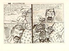 A cartoon by Kurt Cobain taken from his journal.