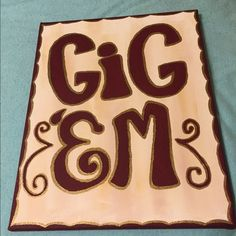 Gig Em' Canvas Painting Brand new Texas A&M canvas wall decoration. Great for dorm decorating! Other
