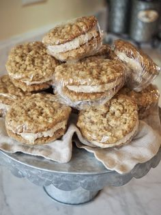 43d1970f7f4 Oatmeal Sandwich Cookies with Maple Brown Sugar Frosting