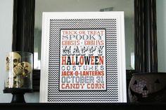 Halloween subway art - free printable! - fun Halloween decorations