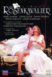 """Strauss, R: Der Rosenkavalier DVD """"[Fleming] speaks volumes with those expressive eyes and floats the trio's opening phrase to perfection...Sophie Koch produces rich, impassioned sounds and makes a convincing boy...Kaufmann [is] handsome and oddly impressive as the Italian tenor"""" BBC Music Magazine, August 2010"""