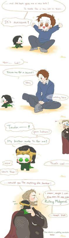 Gifts || Loki Peter & Thor || Avengers || Cr: Alexa
