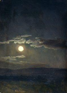 Albert Bierstadt, Cloud Study, Moonlight, 1860 ●彡