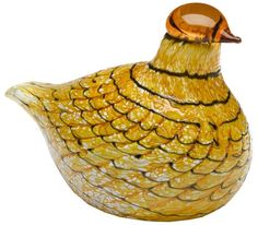 Iittala Birds of Toikka Mouthblown Glass Bird Summer Grouse ** Read more at the image link. (This is an affiliate link and I receive a commission for the sales) Bird Design, Glass Design, Autumn Decorating, Glass Birds, Painted Paper, Collectible Figurines, Ceramic Clay, Bird Art, Hand Blown Glass