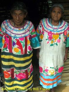 San Bartolome Ayautla is a beautiful Mazatec village where Indigenous Mazatec clothing is still worn by many women, everyday. The huipil is heavily embroidered and adorned with ribbons. The tropical setting is a real Oaxacan wonder.