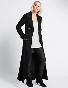 Buy the Collared Neck Maxi Coat from Marks and Spencer's range. Maxi Coat, Collars, Indigo, Duster Coat, Fitness, Jackets, Clothes, Collection, Women