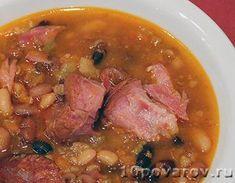Фасолевый суп с копченостями Pork, Beef, Recipes, Kale Stir Fry, Meat, Rezepte, Food Recipes, Ox, Ground Beef