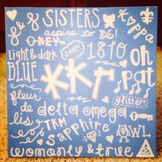 Would totally make this in a kappa delta version College Sorority, Sorority Life, Sorority Sayings, Sorority Decorations, Sorority Crafts, Big Little Week, Big Little Gifts, Alpha Chi Omega, Alpha Phi
