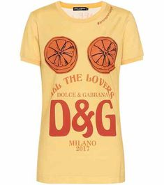 algodón de Camiseta estampadaDolce de Camiseta Gabbana estampadaDolce algodón IFdIwqH