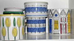 Swedish design from the fifthies Uppsala, Mid Century Decor, Mid Century Design, Swedish Design, Scandinavian Design, Vintage Designs, Retro Vintage, Blue China, Vintage Pottery