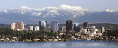Bellevue, WA - Opposite of Seattle on the Western side of Lake Washington moved here when I was going to College in Kirkland WA, just on the other side of the Evergreen Point Floating Bridge. I like the Seattle side of the lake better. Renton Washington, Bellevue Washington, Washington State, Red Lion Hotel, Olympic Mountains, Cascade Mountains, Reasons To Live, Best Location, Day Trips