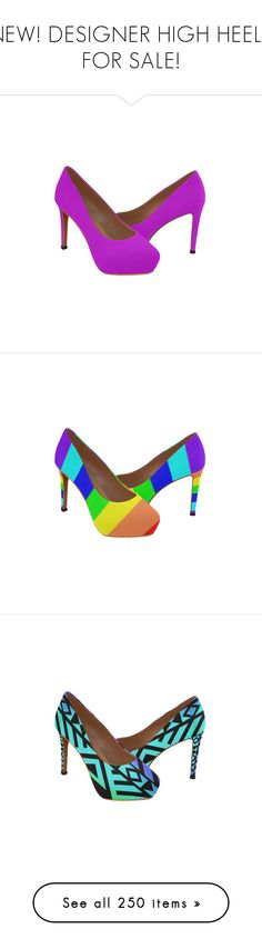 """""""NEW! DESIGNER HIGH HEELS FOR SALE!"""" by artist4god-rose-santuci-sofranko ❤ liked on Polyvore featuring shoes, high heel shoes, high heeled footwear, violet shoes, pumps, high heel pumps, abstract, colorful shoes, black shoes and black high heel shoes"""
