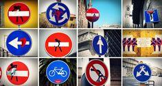 Signage sticker street art by CLET.