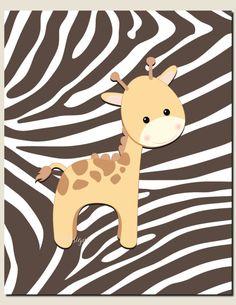 Baby Girl Nursery DecorBaby Boy Nursery Art Jungle by vtdesigns