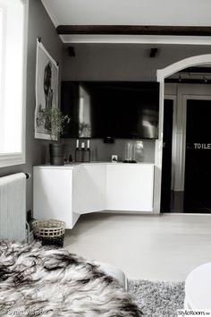 tv,tv-möbel,mediamöbel,vitt och grått,högblankt