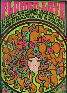 Flower Love  Original 1967 Vintage Poster by JamesPrestonVintage, $225.00
