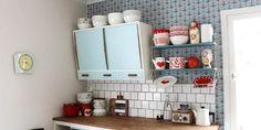 Vintage Finnish enamel collection Wärtsilä and Finel Noorakoo. Decor, Vintage, Shelves, Enamelware, House, Kitchen, Mid Century, Home Decor, Kitchenware