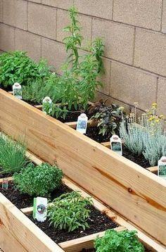 45 Top Inspiring Herb Garden Design Ideas And Remodel – Diy Garden Herb Garden Design, Vegetable Garden Design, Backyard Vegetable Gardens, Herbs Garden, Garden Landscaping, Gardening Vegetables, Square Foot Gardening, Small Square Garden Ideas, Raised Garden Beds