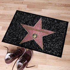 Walk of Fame Fußmatte mit Wunschnamen bedruckt.