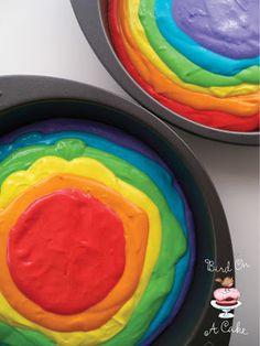 Bird On A Cake: Rainbow Tie Dye Cake