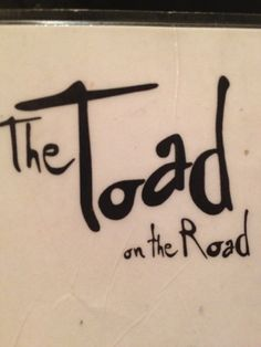 The Toad on the Road in iKapa, Western Cape