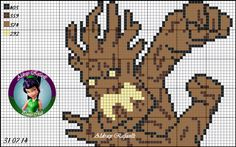 Groot - Guardians of the Galaxy pattern by Aldray Ferreira