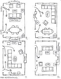 image result for diagram layout of living room with sectional - Rectangular Living Room