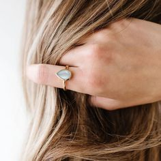 """Currently holding onto the last days of Summer with our ✨restocked✨ Mini HARMONY ring in aqua chalcedony. We've also tagged some of our…"""" • Sep 8, 2021 at 1:35pm UT Everyday Rings, Chai, Special Gifts, The Help, Stud Earrings, 18k Gold, Plating, Gemstones, Sterling Silver"""