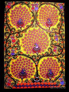 Peacocks-madhubani Paintings Painting