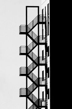 Emergency Stairway /// Amsterdam by Ivo Mathieu Gaston - Architecture Ideas Stairs Architecture, Architecture Details, Interior Architecture, Bauhaus Architecture, Amsterdam Architecture, Conceptual Architecture, Minimal Photography, Black And White Photography, Art Photography