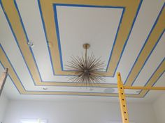Interesting ceiling treatment in process...