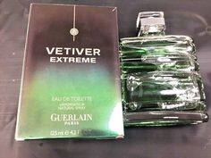Guerlain Vetiver Extreme 4.2oz Men's Eau de Toilette | eBay Guerlain Paris, Perfume Bottles, Ebay, Eau De Toilette, Spray Bottle, Toilets, Fragrance, Perfume Bottle