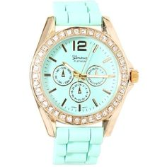 R/S PASTEL SILCNE WATCH ($20) ❤ liked on Polyvore
